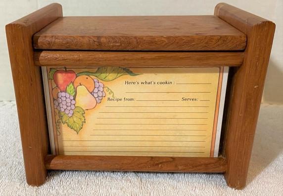 Vintage Danish Modern Teak Recipe Box