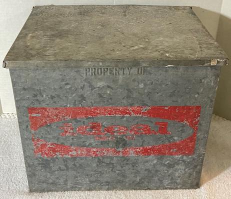 Vintage Ideal Galvanized Milk Cooler