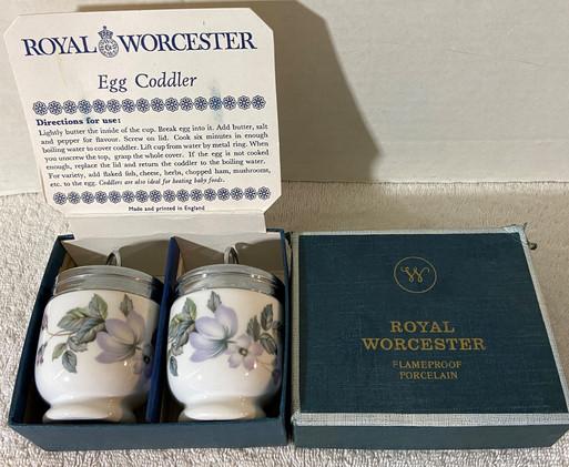 Royal Worcester June Garland Egg Coddlers