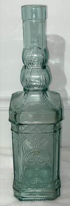 Large Ornate Bottle With Plug Hole