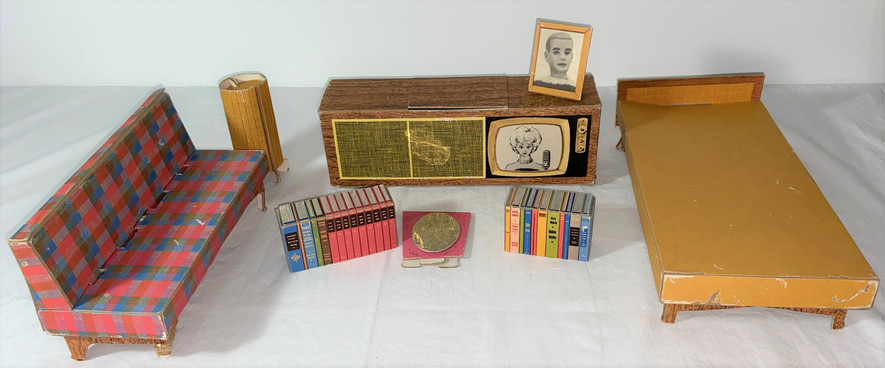Vintage Barbie Cardboard Furniture