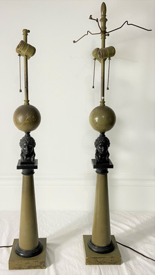 Pair Victorian Lamps