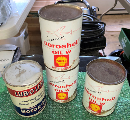 Lot Four Full Vintage Oil Cans