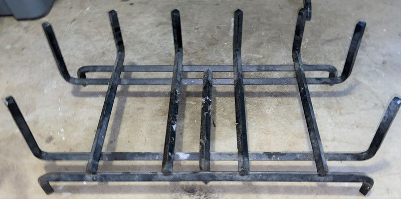 """27"""" Tapered Iron Firewood Grate"""
