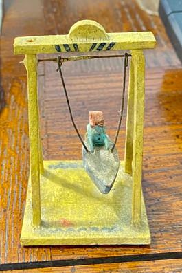 Miniature Antique Toy Swing