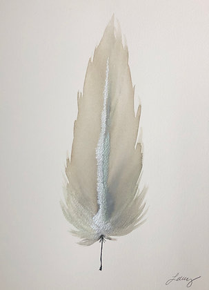 Mint / Silver II Small Feather