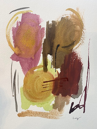 COVID Watercolor Abstract Series 8