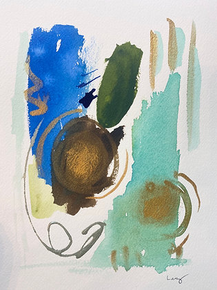 COVID Watercolor Abstract Series 5