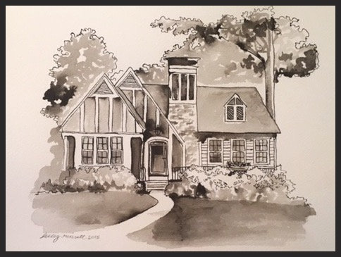 Commissioned Pen and Ink House