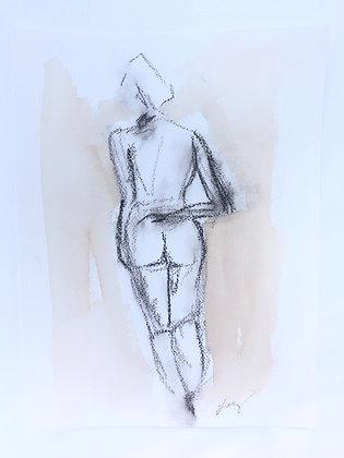 Charcoal Figure II
