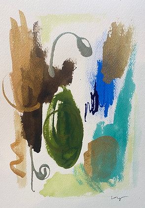 COVID Watercolor Abstract Series 6