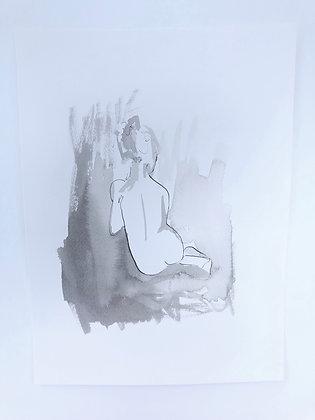Pen and Ink Figure III