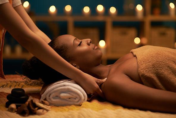 African-American woman receiving relaxin
