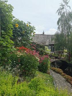 2. De tuin van Dinie en Hans.  IJsseldijk  190