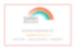 Graphisme - Sarah Bonjour - Carte de visite arc en ciel, couleurs
