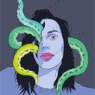 Illustration portrait par Claire Dujardin, graphiste print et web