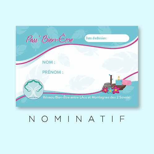 """Pass bien-être """"Nominatif"""""""