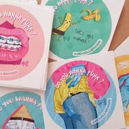 Création de stickers par Claire Dujardin, illustratrice à Annecy