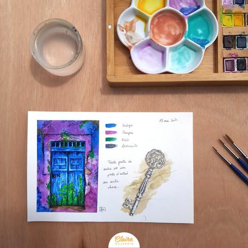 La porte violette