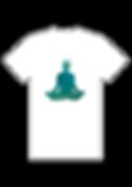 Tshirt - Lotus turquoise sur fond blanc