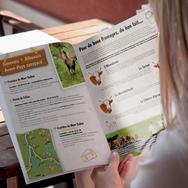 Mise en page du magazine L'Essentiel des fromages par Claire Dujardin, graphiste pour particuliers, associations et entreprises