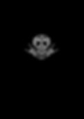 Tshirt - Masque blanc sur fond noir