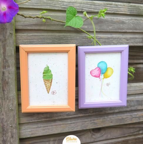 Ice cream & balloons