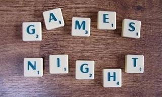 Games Night - scrabble tiles