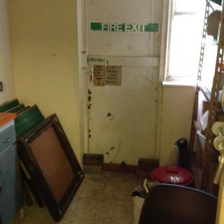 SSQ parish hall 2nd fire exit