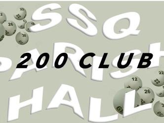 February's 200 Club Draw
