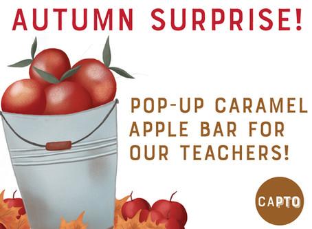 SURPRISE! Pop-up Caramel Apple Bar!