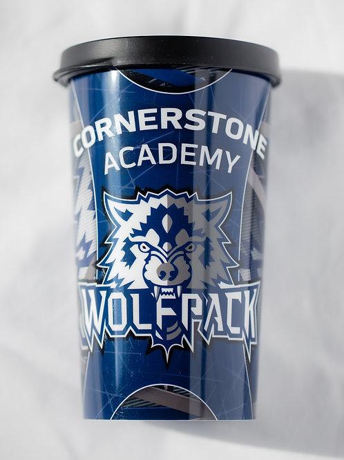 Cornerstone Academy Plastic Tumbler w/Lid