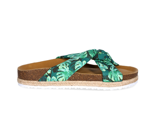 Sandal Knot Palms Green Lime