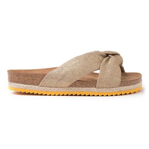 Bio Foulard Sandal Linen Gold