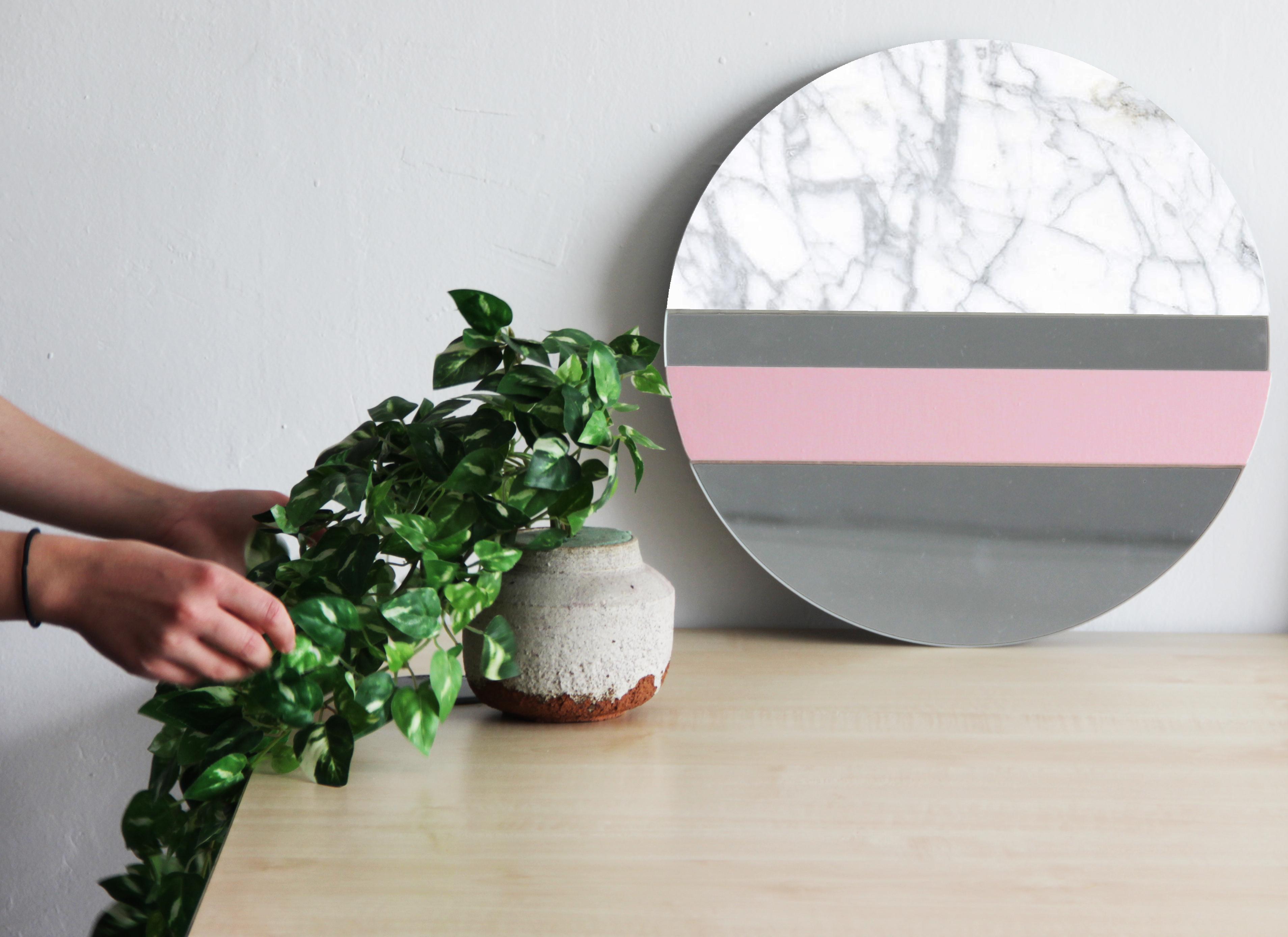 XO mármol carrara + rose quartz