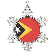 east_timor_flag_snowflake_pewter_christm