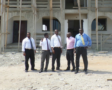 Development Project site visit in Ghana