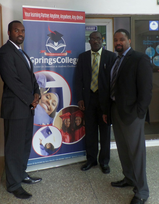 Springs College visit in Ghana