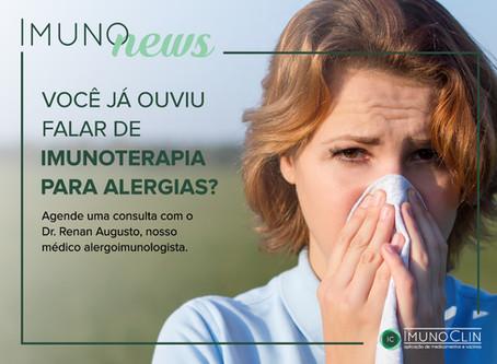 Você conhece a Imunoterapia, também chamada de vacina para alergia?