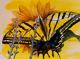 Swallowtail Posing by Mary Byington