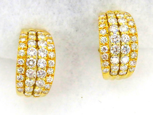 DIAMOND EARRINGS WITH FRENCH CLIP