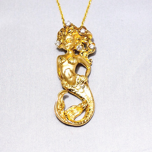 MERMAID PENDANT WITH CHAIN