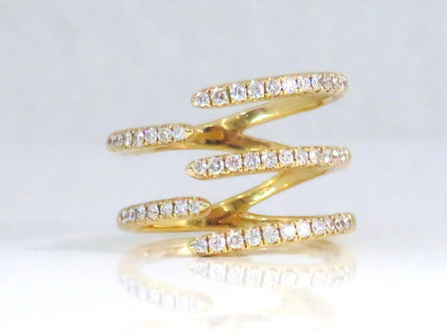 FIVE ROW DIAMOND RING