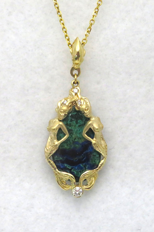 AZURITE/MALACHITE MERMAID SLIDE