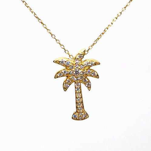 PALM TREE PENDANT WITH CHAIN