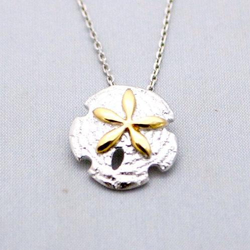SAND DOLLAR PENDANT WITH CHAIN
