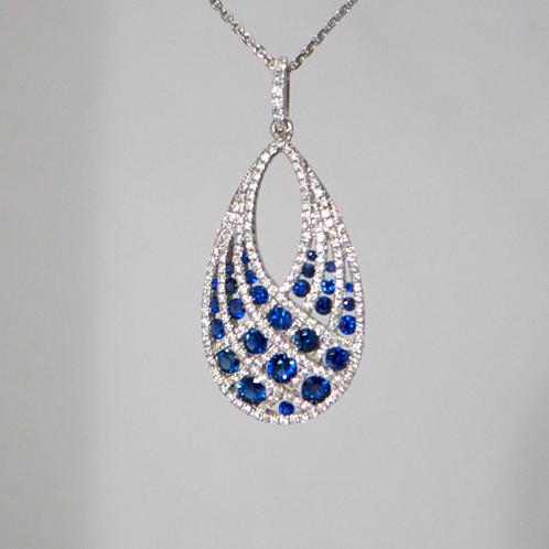 Sapphire diamond pendant jewelry store in sarasota united sapphire diamond pendant aloadofball Image collections