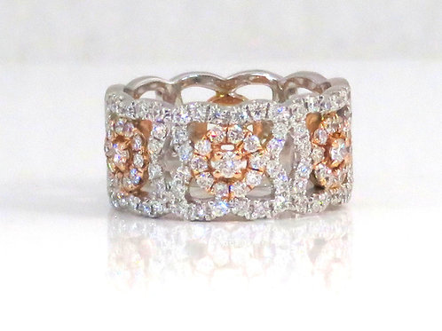 FLOWER & LATTICE DIAMOND RING