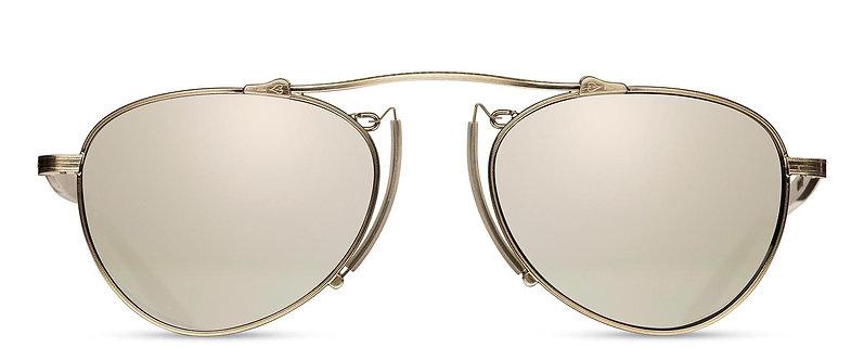 Titanium Sunglasses with Pince-nez Bridge