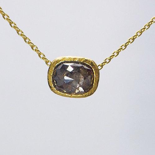 BLACK RUSTIC DIAMOND NECKLACE